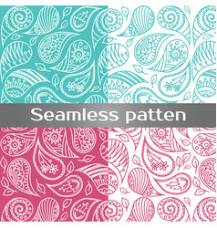 seamless colorful pattern with spring flowers vector image