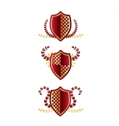 shields with wreathes vector image