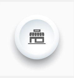 shop icon on a white simple button vector image