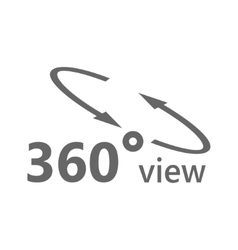 Simple icon 360 degrees 360 Degrees View vector image vector image