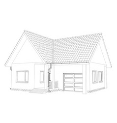Sketch house on the white background eps vector