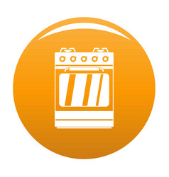 Small gas oven icon orange vector