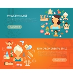 Spa Banner Horizontal vector image