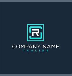 Sr rs initial logo luxury design inspiration vector
