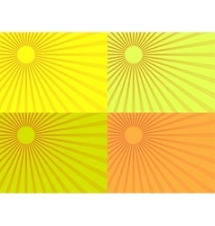 The yellow rays of the sun Eps 10 vector image