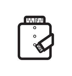 Thin line jacket icon vector