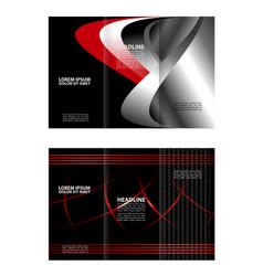 tri-fold brochure and catalog design templa vector image