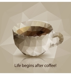 Triangle cup of coffee vector image