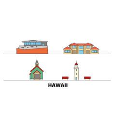 United states maui flat landmarks vector
