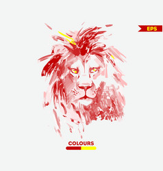 water colour lion head vector image