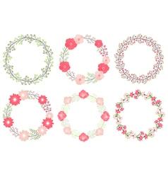 Wedding Wreath Set vector image