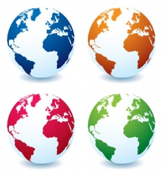 earth globe variation vector image vector image