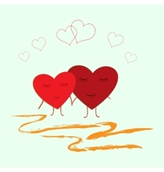 Heart two vector image
