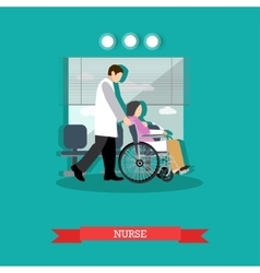 nurse carrying patient in vector image