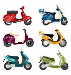 scooter set vector image