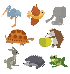 set of small animals vector image