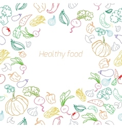 Text placeholder healthy vegetables background vector image