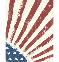grunge american flag background vertical vector image vector image