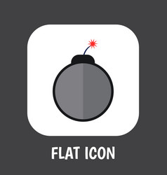 of safety symbol on bomb flat vector image
