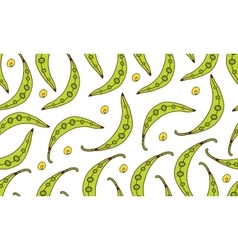Colorful seamless pattern with beans vector image vector image