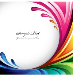 colorful splash background vector image vector image