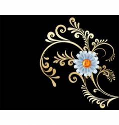gold flowers background vector image vector image