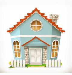 House home 3d icon vector