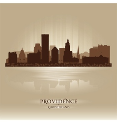 Providence Rhode Island skyline city silhouette vector image vector image