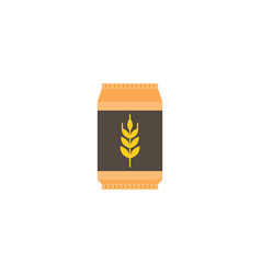 wheat flour bag icon flat design vector image