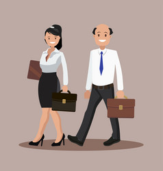 a set of business couple symbols of a man and a vector image