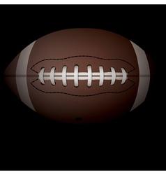 American Football on Black vector image vector image