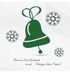 Christmas - bell vector image vector image