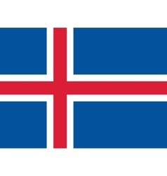 Flag of Iceland in correct proportions and colors vector image vector image