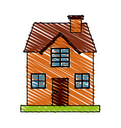 isolated house design vector image