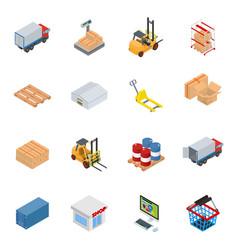 isometric warehouse equipment vector image