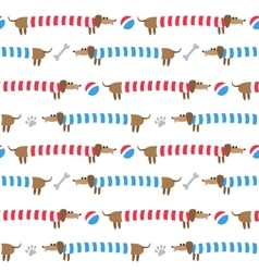 Seamless pattern with dachshunds vector image vector image