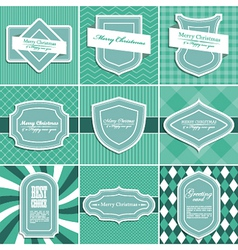 Set of christmas vintage backgrounds vector image vector image