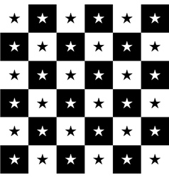 Star Black White Chess Board Background vector image vector image