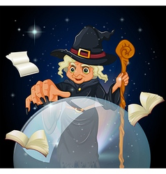 a witch doing spell vector image