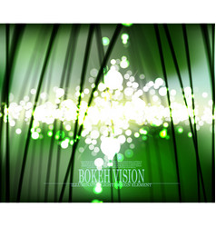 Abstract bokeh vision in the forrest background vector