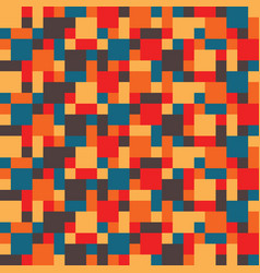 Abstract colorful hippy mosaic pattern of vector