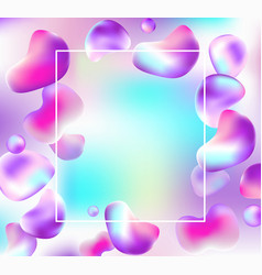 abstract frame with drops of liquid vector image