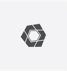 Abstract pentagon icon vector