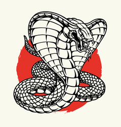 Angry poisonous king cobra concept vector