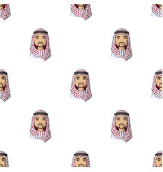 Arabhuman race single icon in cartoon style vector