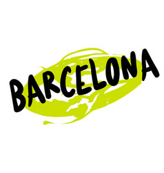 Barcelona sticker stamp vector