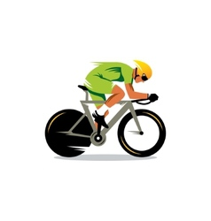 Bike track racing sign vector