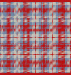 Blue and red tartan plaid seamless pattern vector