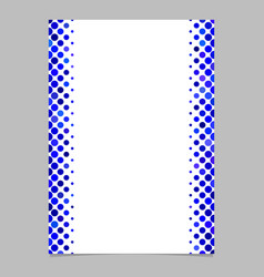 Blue circle pattern page template - design from vector