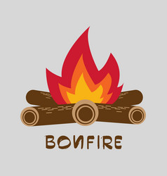 bonfire with firewood vector image vector image